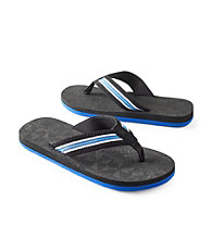 Paradise Collection® Men's Cobalt Multi-Striped Thong Sandal