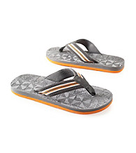 Paradise Collection® Men's Orange Multi-Striped Thong Sandal