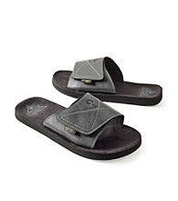 Paradise Collection® Men's Black Velcro Closure Slide Sandal