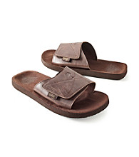 Paradise Collection® Men's Brown Velcro Closure Slide Sandal