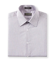 John Bartlett Statements Men's Plum Check Long Sleeve Dress Shirt