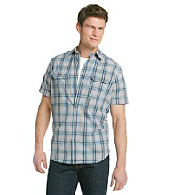Ruff Hewn Men's Vintage Chambray Short Sleeve Plaid Woven