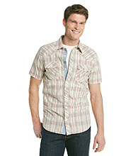 Ruff Hewn Men's Concrete Short Sleeve Plaid Woven