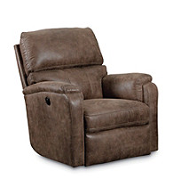 Lane® Harrison Mocha Power Glider Recliner