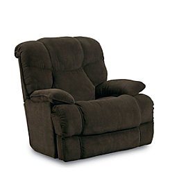 Lane® Luck Chocolate Rocker Recliner with Massage