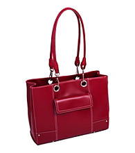McKlein Serena Faux-Leather Business Tote