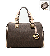 MICHAEL Michael Kors® Grayson Signature PVC Medium Satchel