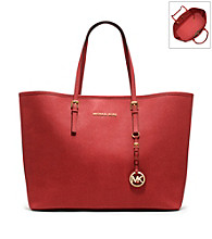 MICHAEL Michael Kors® Medium Jet Set Leather Travel Tote