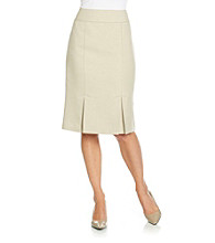 Le Suit® Double Front Vented Skirt