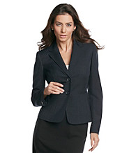 Kasper® Plus Size Mélange Notch Collar Jacket