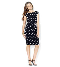 Lauren Ralph Lauren® Bateau Neckline With Side Knot Dress
