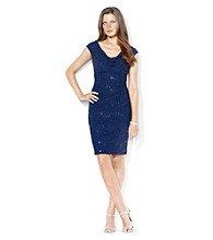 Lauren Ralph Lauren® Cowlneck Sequined Dress