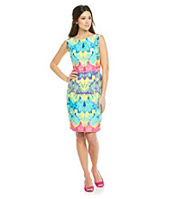 Muse Cotton Printed Jacquard Sheath