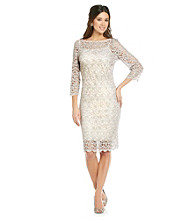 Marina Illusion Pretzel Lace Dress