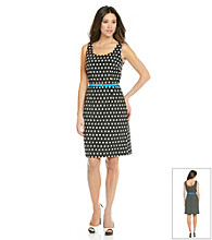 Adrianna Papell® Belted Dot Sheath Dress