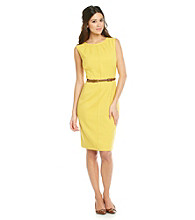 Anne Klein® Stretch Sail Cloth Sheath Dress