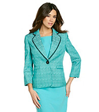 Kasper® Tweed Notch Collar Jacket