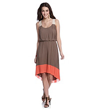 Jessica Simpson Pleat Tank Blouson Dress