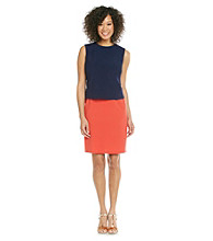 Evan-Picone® Colorblock Sheath Dress