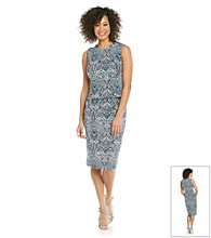 Evan-Picone® Paisley Sheath Dress