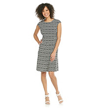 Evan-Picone® Printed Trumpet Skirt Dress