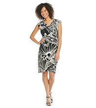 Evan-Picone® Printed Tulip Hem Dress