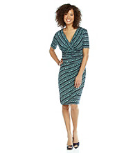 Evan-Picone® Print Surplice Dress