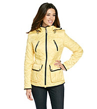 Nautica® Quilted Zip-Front Coat