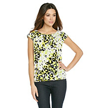 Relativity® Career Printed Scoopneck Top