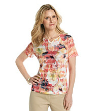 Breckenridge® Petites' Autumn Sun Sublimation Jacquard Tee