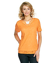 Breckenridge® Layered-Look Lace Tee