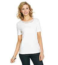 Breckenridge® Scoopneck Beaded Top