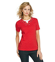Breckenridge® Petites' Textured Layered-Look Tee