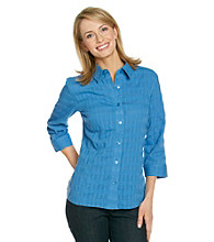 Breckenridge® Petites' Window Pane Blouse