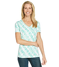 Studio Works® Printed V-Neck Top