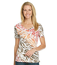 Studio Works® Petites' Zebra Printed Top