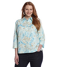 Studio Works® Plus Size Aztec Woven Shirt