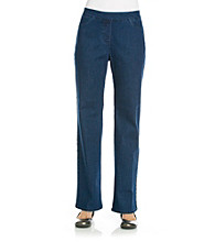 Alfred Dunner® Stretch Waistband Slimming Short Denim Pant