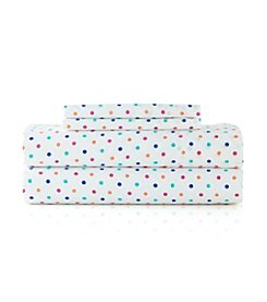 LivingQuarters Easy Care Dots Microfiber Sheet Set