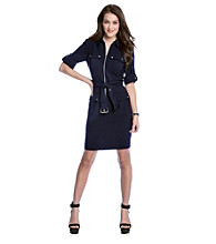 MICHAEL Michael Kors® Navy Belted Dress