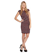 Karen Kane® Geo Print Sheath Dress