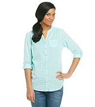Ruff Hewn Buttondown Band-Collar Shirt