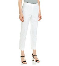 Rafaella® Double Weave Slim Ankle Pant With Side Zip