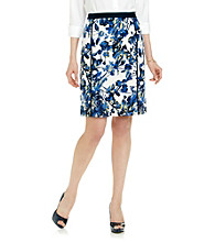 Rafaella® Multi Colored Daffodil Printed Textured Skirt