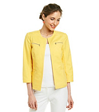 Rafaella® Double Weave Open Jacket