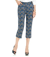 Rafaella® Woodblock Patterned Capri