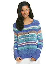 Nine West Vintage America Collection® Blossom Yarn Stripe Sweater