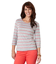 Democracy Striped Scoopneck Top