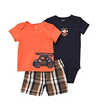 Carter's® Baby Boys' Orange 3-pc. Dunebuggy Shorts Set