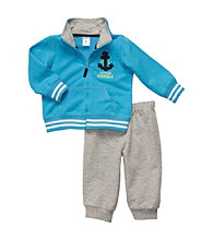 Carter's® Baby Boys' Turquoise 2-pc. Long Sleeve Captain Adorable Set